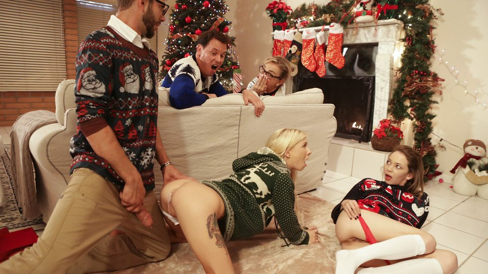 """Angel Smalls,Kenzie Reeves"" Christmas Family Sex"